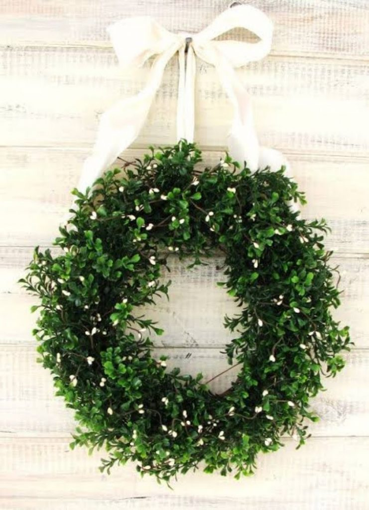 Hang Mini Wreaths - Christmas decorations for medical office