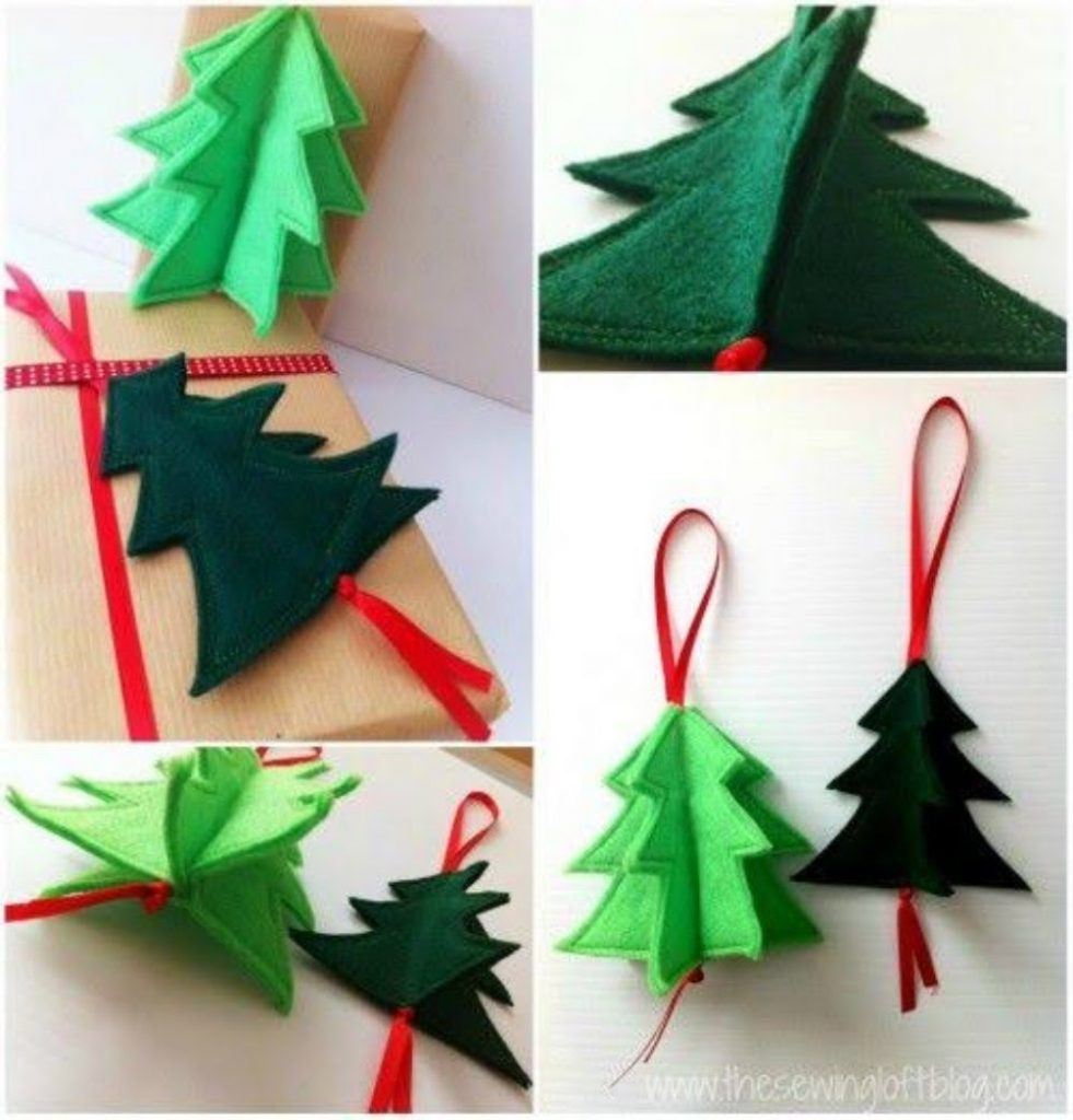 Make a 3-D Upholstered Tree - Christmas decorations for medical office