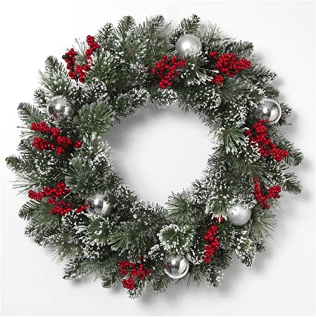 Make a Snowy Wreath - Christmas decorations for medical office