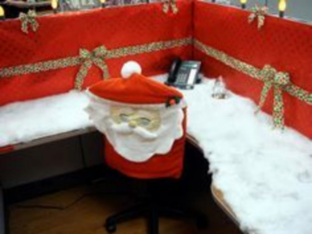 Chair Adornments - christmas decorations for office