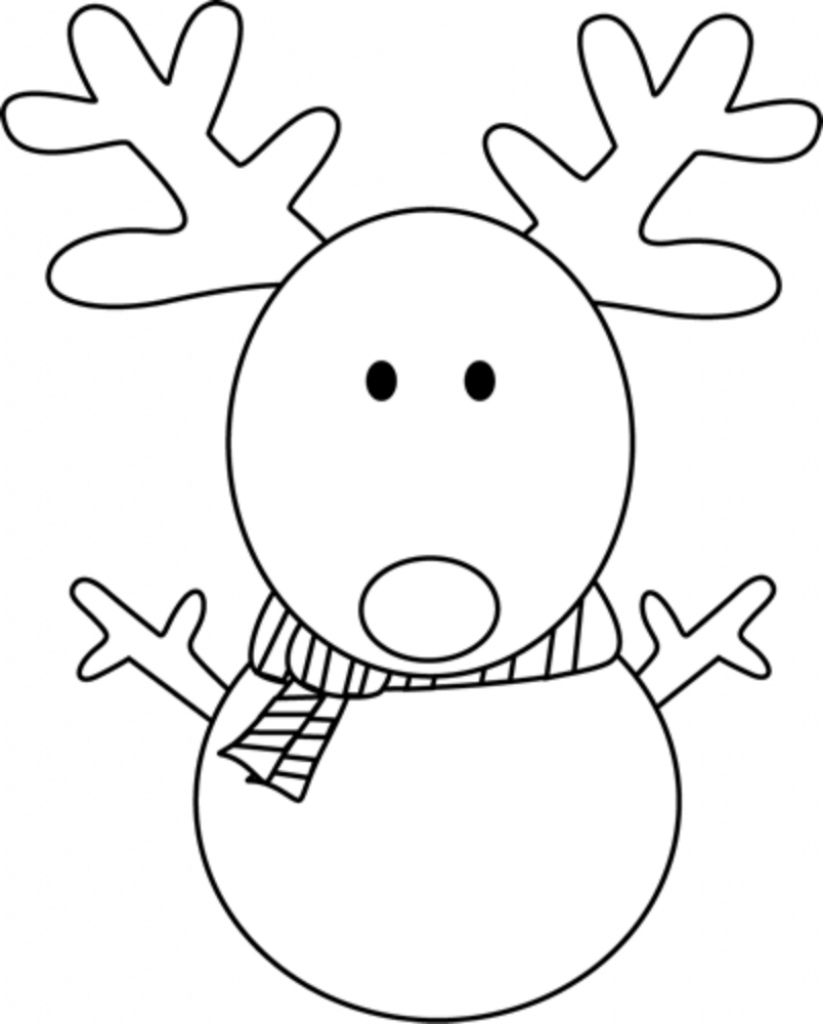 Reindeer snowman Drawing of Christmas Decorations
