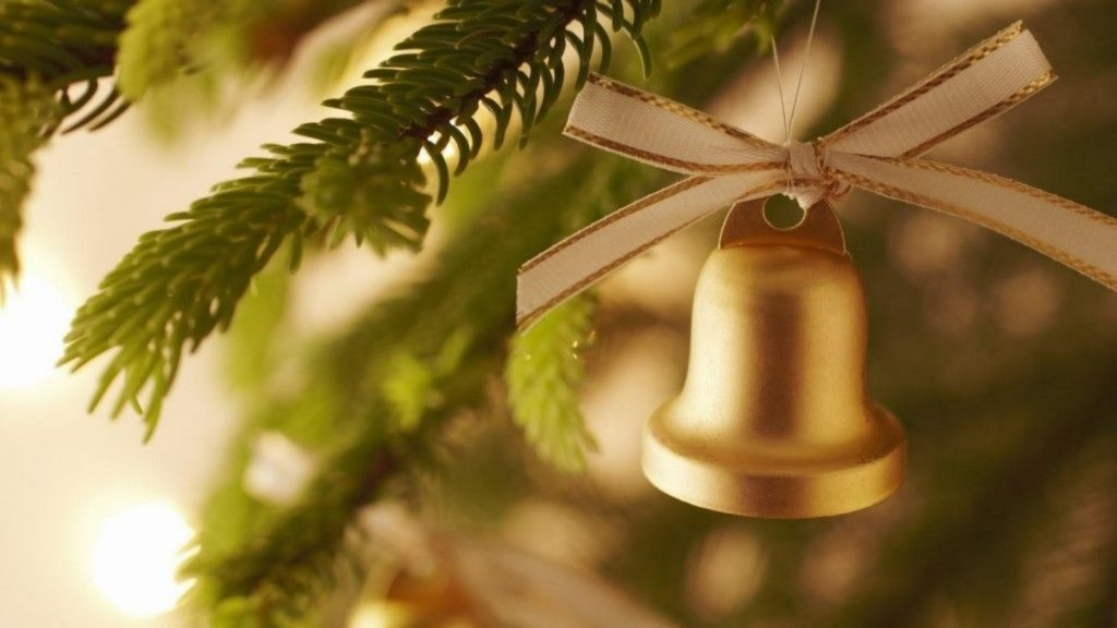 Top the Christmas Tree with Bells - christmas decorations for office