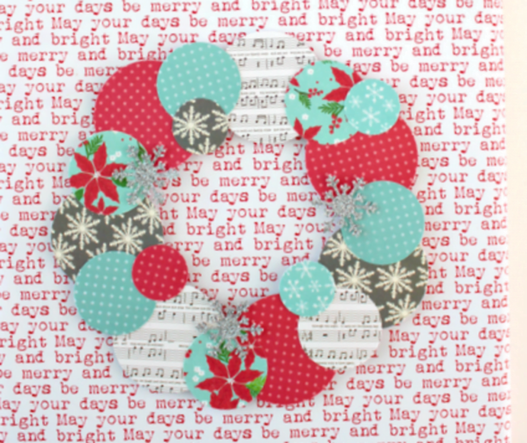 Paper Wreath Card - Christmas Card Crafts For Preschoolers