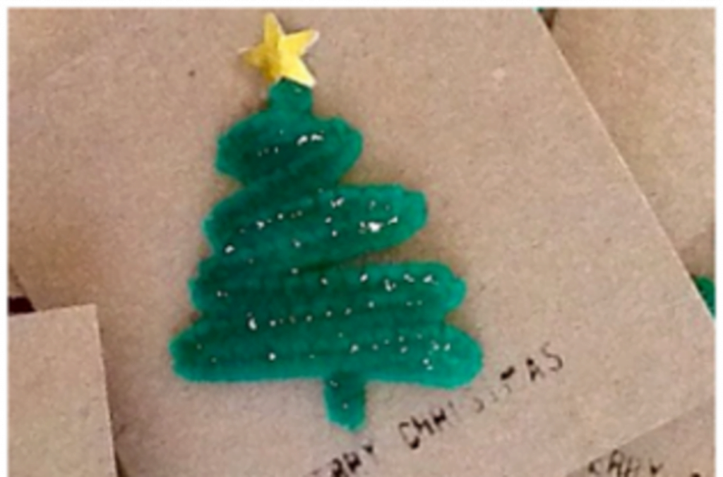 Pipe Cleaner Card Christmas Card Craft For Adults