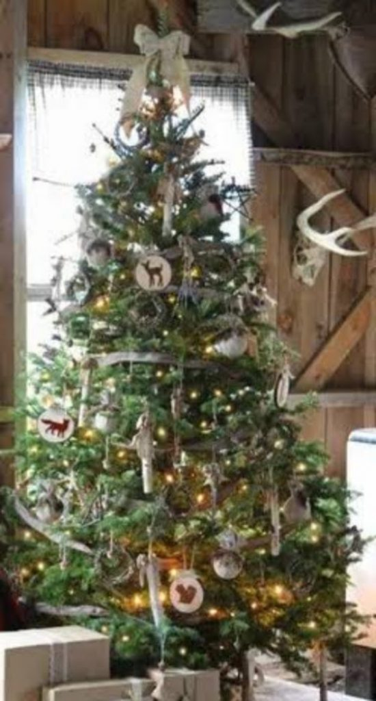 Relaxed and Rustic Tree - christmas decorations for tree