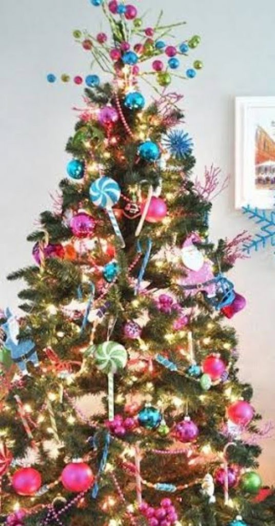 Candy-Covered Tree - Decorate Your Christmas Tree In A Traditional Style