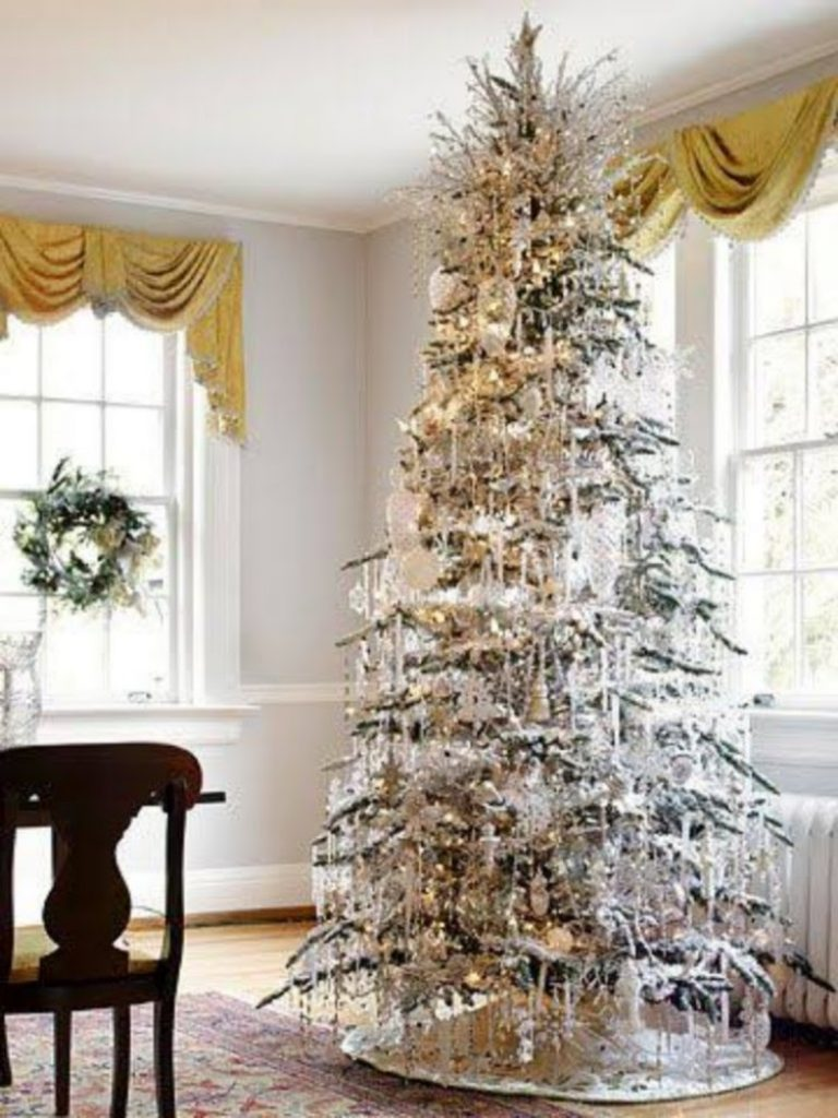 Silver Metallic Tree - Christmas Decorations For Snowy Tree