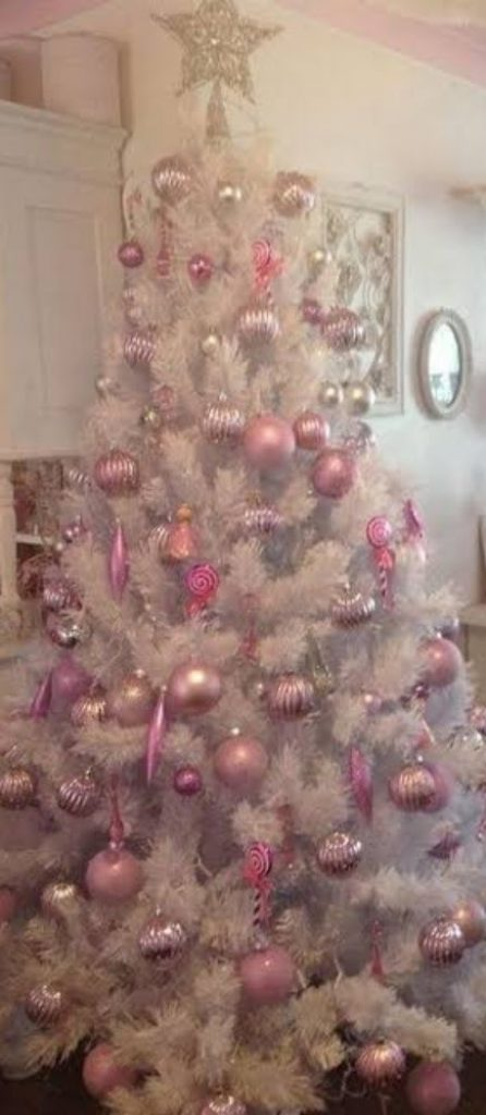 Add Some Pink - Christmas Decorations For Snowy Tree