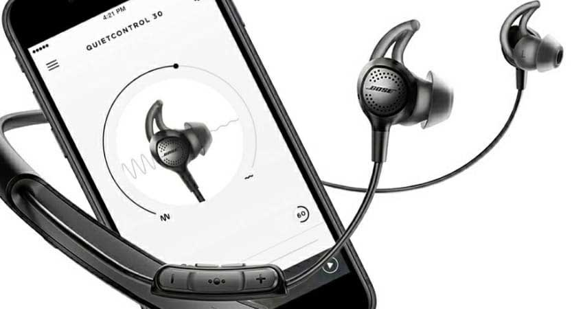 Bose QC 30 active noise cancellation
