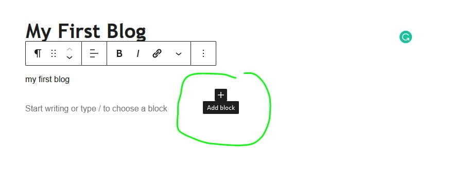 add image block