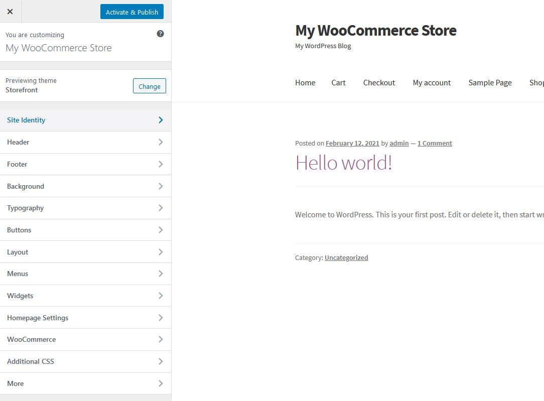 woocommerce theme change - How to Start an Online Store with WordPress using Woocommerce