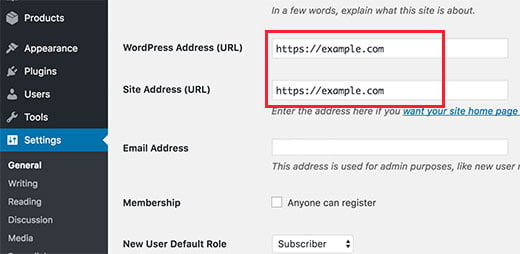 wordpress ssl in settings - How to Start an Online Store with WordPress using Woocommerce