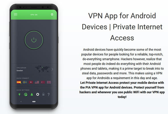 PIA android app