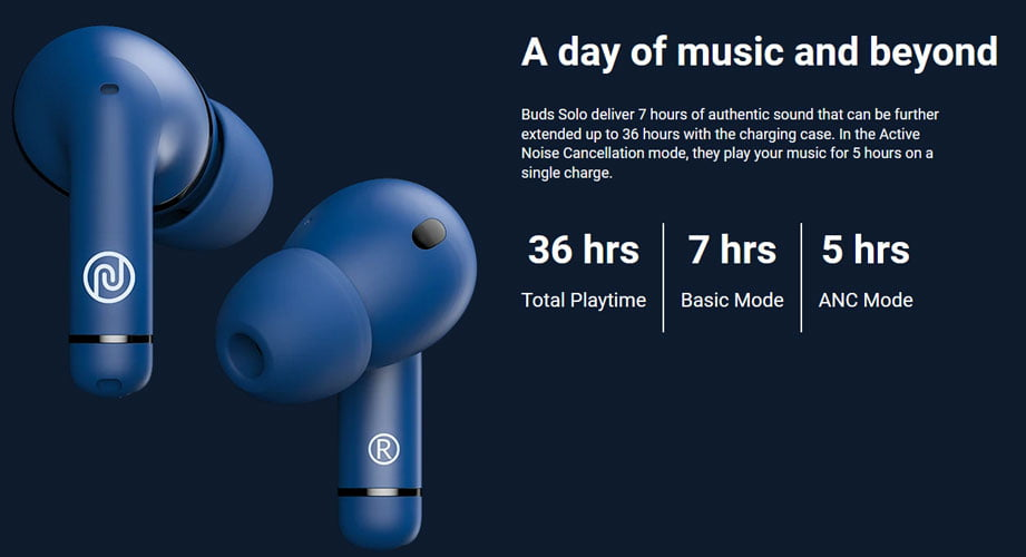 noise buds solo battery life